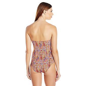 Echo Design Women's Paisley Underwire Slimming One Piece Swimsuit, Multi, 14