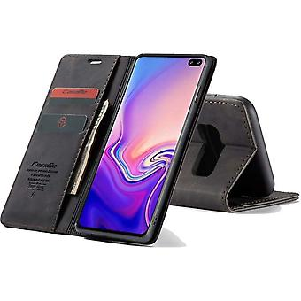 Retro Wallet Slim voor Samsung S10 Plus Zwart