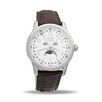 Davis Watch Quartz leather strap Unisex Adult phases of 1501