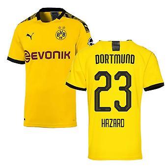 2019-2020 Borussia Dortmund Puma Authentic Home Football Shirt (Hazard 23)