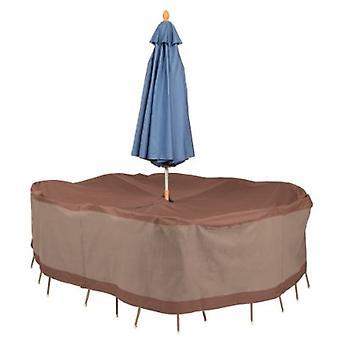 Cubiertas de pato Ultimate Rectangular / Oval Mesa y silla Set Cubierta con agujero paraguas 88 W