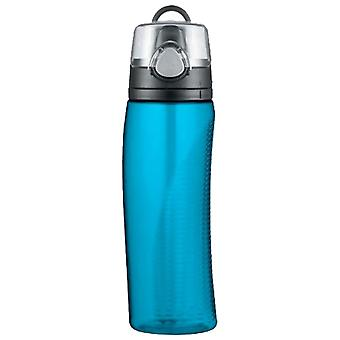 Thermos-Teal-Hydration Flasche mit Meter