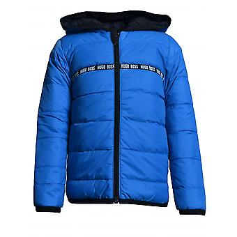 Hugo Boss Boys Hugo Boss Infant Boys Electric Blue Reversible Puffer Jacket