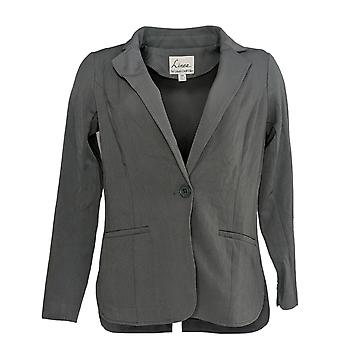 Linea by Louis Dell'Olio Women's Blazer Button Closure Gray A273302