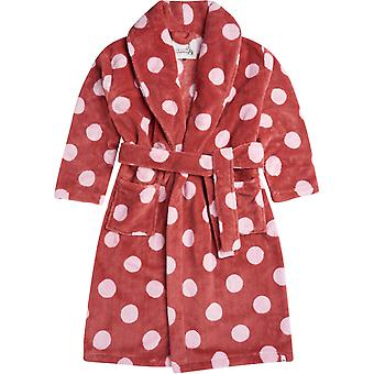 Animal Spottey Dressing Gown in Mineral Red