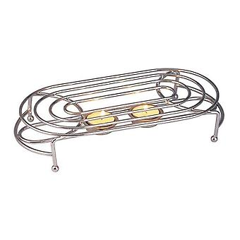 Apollo Chrome Double Food Warmer