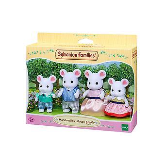 Família de rato de Marshmallow Sylvanian famílias