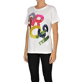 P.a.r.o.s.h. Ezgl081054 Women's White Cotton T-shirt