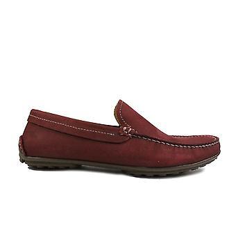 Anatomic Lucas Bordeaux Suede Leather Mens Slip On Driver Shoes