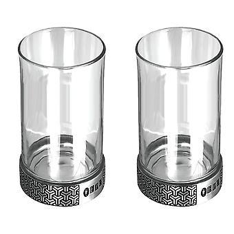 Symetrix Hiball Geist Glas Set von 2-8 Unzen
