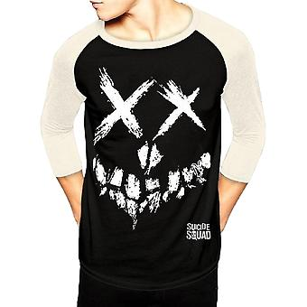Suicide Squad Adults Unisex Skull Design Baseball Shirt