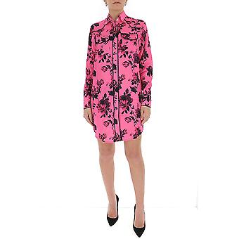 Laneus Abd009cc11var1 Women's Fuchsia Cotton Dress