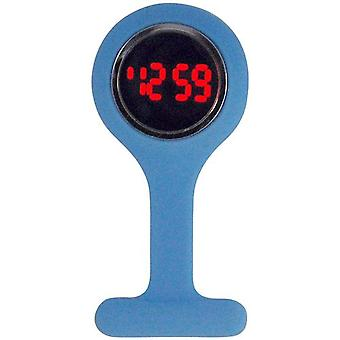Boxx Led Digital Blue Rubber Infection Control Nurses Fob Watch