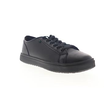 Emeril Lagasse Canal Leather Womens Black Wide 2E Lace Up Low Top Sneakers Shoes