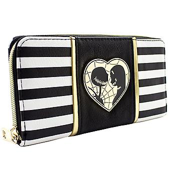Nightmare Before Christmas Jack & Sally Coin & Card Clutch Purse
