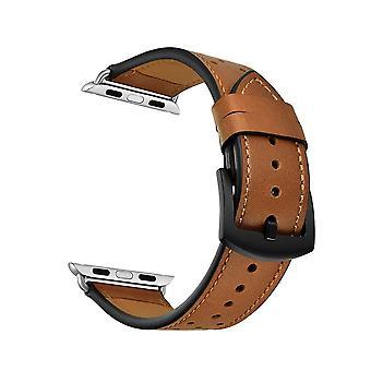 Βραχιόλι Apple Watch σε γνήσιο δέρμα με τρύπα 38/40 mm - καφέ