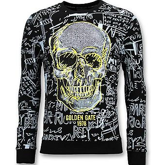 Pull With Print - Skull Crewneck - Noir
