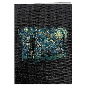 Stranger Night Stranger Things Van Gogh Mashup Greeting Card