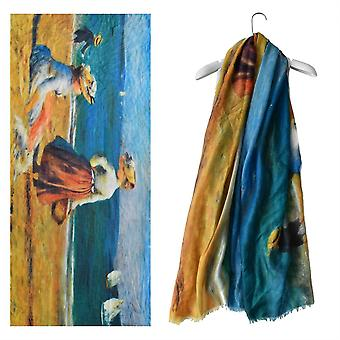 Renoir By the Seashore Painting  Print Scarf