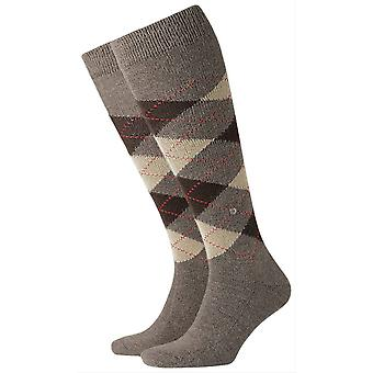 Burlington Preston Knee High Socks - Brown/Beige