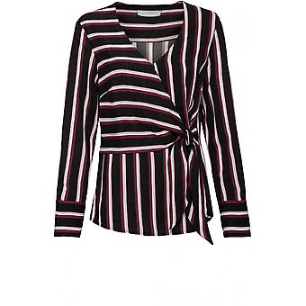 Bianca Striped Tie Front Blouse