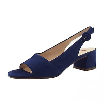 Högl 9-10 2112 Joy Leather Sandals In Navy Suede