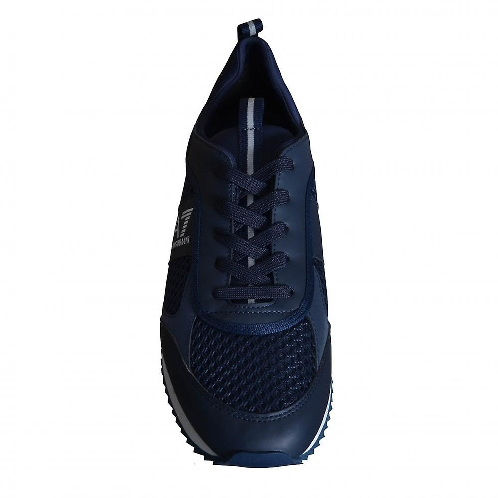 Ea7 Men's Footwear Navy Blue Trainers