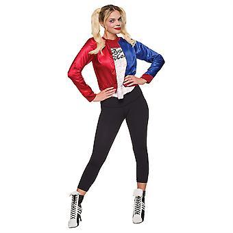 Womens Harley Quinn Fancy Dress Jacket
