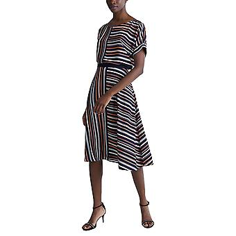 Esprit Women's Striped Print Crepe Skirt Normal Fit