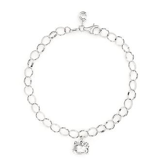 Hello Kitty Sterling Silver Single Charm Bracelet