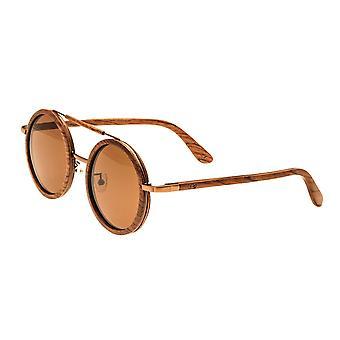 Earth Wood Bondi Polarized Sunglasses - Red Rosewood/Brown