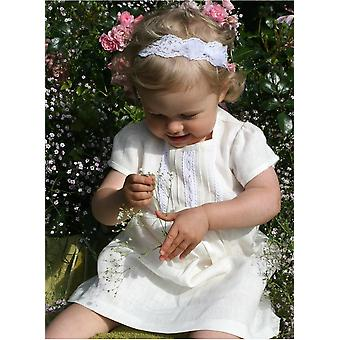 Off White Special Occasion Dress In Linen Or Baby Girl 56 - 86