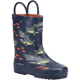 Cotswold Kids Puddle Waterproof Pull On Boot Shark