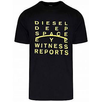Diesel Schwarz J5 Logo T-Shirt