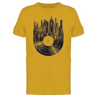 Vinyl Disc Cityscape Tee Men's -Image by Shutterstock