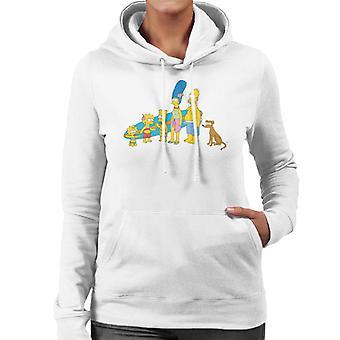De Simpsons Surf familie vrouwen ' s Hooded Sweatshirt