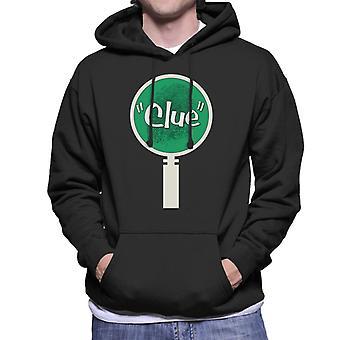 Hasbro Cluedo Rev grüne Lupe Glas Finger Druck Männer's Kapuzen Sweatshirt