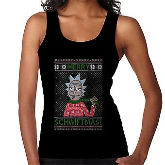 Rick och Morty Christmas Merry schwiftmas kvinnor ' s Vest