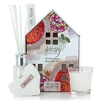 Artistry Collection House Duftende Votive Heart Candle & Diffuser Gave Sæt østlige Spice
