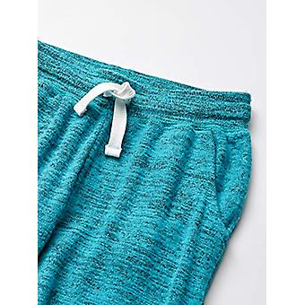 Brand - Spotted Zebra Girl's 2-Pack Cozy Knit Joggers, Rainbow/Aqua, X...