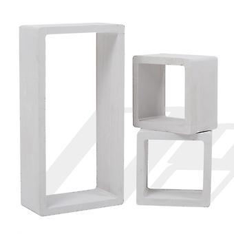 Rebecca Möbel Set 3 Regale Regale Rechteck Cube Design Holz 39x20x10