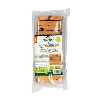 Bio slices with raisins 240 g