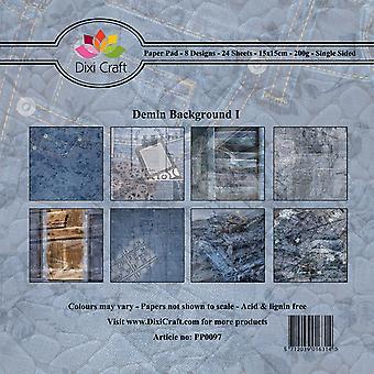 Dixi Craft Denim Background I 15x15cm Paper Pad