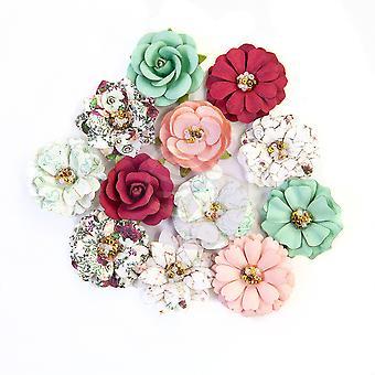 Prima Marketing Bonitas Flores de Mosaico Turquesa