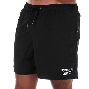 Men's Reebok Logo Swim Short in Black