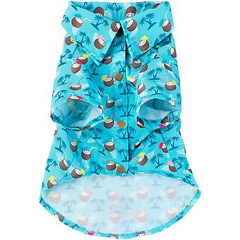 FuzzYard Camiseta Hawaiana Blue Oasis (Dogs , Dog Clothes , T-Shirts)