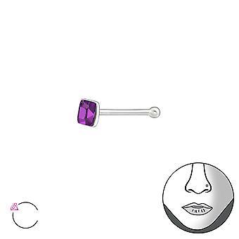 Silver aukio 2.5mm nenä Studs pallo ja Crystal alkaen Swarovski® - 925 Sterling Silver nenä Studs - W37464x
