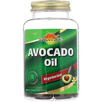 Nature's Life, Avocado Oil, 60 Vegetarian Softgels