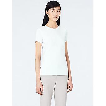 Marca - Meraki Women's Crew Neck T-Shirt, 2 Pack, White, EU XL (US 12-...
