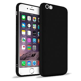 Protection mobile douce pour Apple iPhone 6 Plus/6s Plus Shockproof TPU Solid Color Black